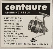 1960 Print Ad Centaure Pacific 5 Fishing Reels Booth Co. Beverly Hills,CA
