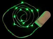 Adafruit Wire Light LED Strand - 12 Green LEDs + Coin Cell Holder [ADA896]