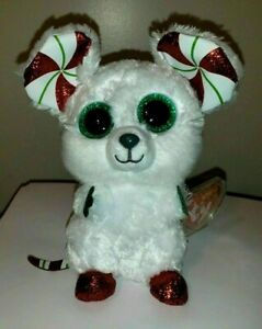 2020 NEW - Ty Beanie Boos - CHIMNEY the Christmas Mouse (6 Inch) MWMT VHTF