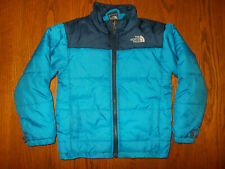 THE NORTH FACE FULL ZIP BLUE QUILTED INSULATED JACKET BOYS 6 EXCELLENT CONDITION