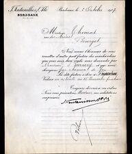 """BORDEAUX (33) Raffinerie / ESSENCE de TEREBENTHINE """"FONTANILHES & OKLE"""" en 1907"""