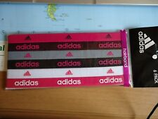 Femme Bandeaux Adidas Lot de 6 stretch noir gris rose blanc violet Pack NEUF