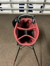 Sun Mountain Stand/Carry Bag 4 Way Divider With Rain Hood Red/black