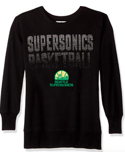 Seattle Supersonics Sweatshirt Womens XL/2XL NBA Basketball Bling Pullover NEW