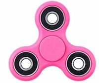 Pink New Fidget Finger Hand spinner focus SPIN TRI SPINNER STEEL