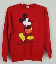 WALT DISNEY Mickey Mouse Red Vintage womens sweatshirt size Large