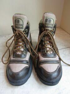 Hodgman Brown Mesh/Leather Women's Wading Boots Size 7 NOT Felt Bottom