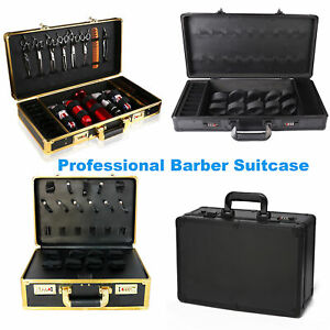 Professional Large Barber Suitcase Carrying Case Clippers Trimmers Storage Box