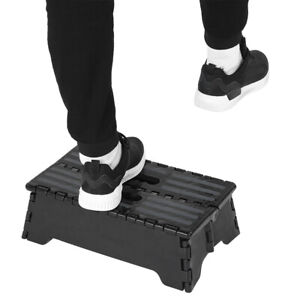Portable Folding Step Stool Black Step Ladder For Elderly Pregnant Bathroom