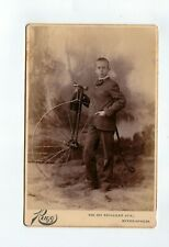 Outstanding Penny Farthing High Wheel Bicycle Cabinet Card no reserve