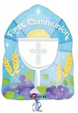 "1st / First Holy Communion Blue Boy Party Decorations 18"" Foil Balloon"