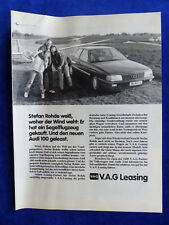 Audi 100 V.A.G Leasing - Werbeanzeige Reklame Advertisement 1984 __ (325