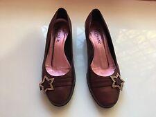 CAFèNOIR scarpe ballerine in cuoio viola con brillantini