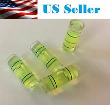 4 PCs Acrylic Tube Bubble Spirit Level Vial Measuring Instrument D 8mm L 22mm