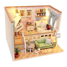 Miniatura casa delle bambole in legno Kit Modello Camera da letto