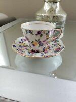 Vintage Rosina English Bone China Tea Cup And Saucer