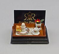 """9911048 Reutter Puppenstuben-Miniatur """"Frühstücks-Set schwarze Rose"""""""