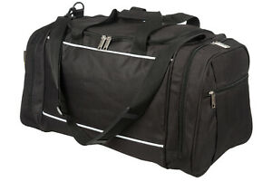 Mens & Boys Black Sports & Gym Holdall Bag SPORTS TRAVEL SCHOOL WORK DUFFLE BAGS