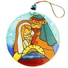 Christmas Hanging Nativity - Glass - Large - Handmade in Ecuador - Fair Trade