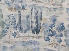 Sanderson Curtain Fabric WATERPERRY 3.4m Indigo -100% Linen Design 340cm