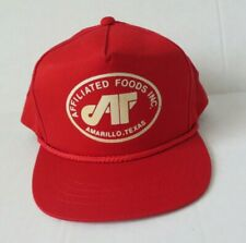 Vintage Yupoong Red Affiliated Foods Amarillo Tx Strapback Cap Hat