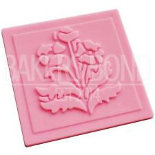 Flower Lace Pattern Texture Embossing Silicone Square Mat Cake Fondant Print (C)