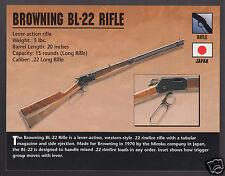 BROWNING BL-22 RIFLE .22 Long Gun Japan Atlas Classic Firearms PHOTO CARD