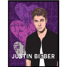 Justin Bieber  Twin Size Heartbreak Plush throw blanket 60x80