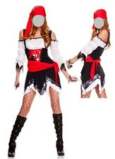 Sexy  Pirate Ladies Women Fancy Dress Costume- size 8-10