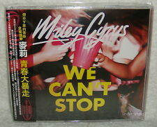 Miley Cyrus WE CAN'T STOP 2013 Taiwan CD +2 postcards w/OBI