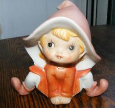 "Homco Elf Figure Figurine 4"" #5213 Orange Home Interior"