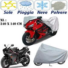 TELO COPRIMOTO TAGLIA GRANDE XL 240 X 140 CM IMPERMEABILE COVER MOTO IN PEVA