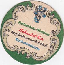 alter Bierdeckel  Zum Heurigen  F & M Schöttl  Bad Tölz Hubertus Stuben  rar !!