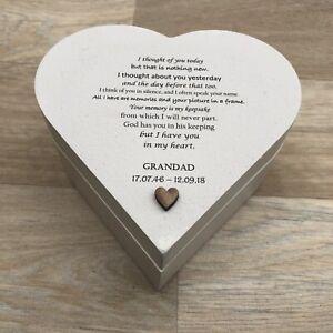 Grandad MEMORIAL PERSONALISED ANY NAMES Bereavement Gift IN MEMORY OF