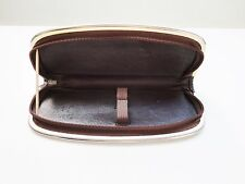 VINTAGE PELIKAN STYLE PEN POUCH CASE GENUINE LEATHER FOR TWO PENS BROWN