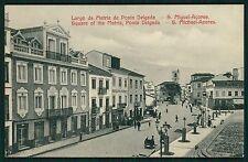 Portugal AZORES Acores Matriz Square Ponta delgada original old 1910s postcard
