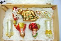 Polonaise ROMA set 7 Mercury Glass Ornaments Ancient Rome Italy Kurt Adler Boxed