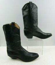 Ladies Black Leather Western Cowgirl Boots Size : 10 M