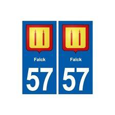 57 Falck  blason autocollant plaque stickers ville arrondis