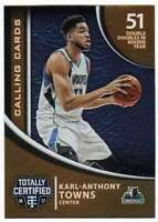 2016-17 Panini Totally Certified Calling Cards #12 Karl-Anthony Towns