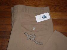 """NWT Rocawear KHAKI R-Flap """"BIG R"""" CLASSIC FIT Twill Casual Pants SZ:44 X 32"""