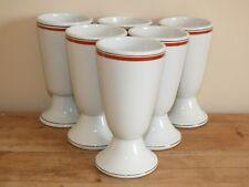 6 tasses Mazagrans en porcelaine d'Auteuil - ligne Bistrot par Lobjoy