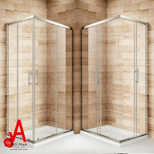 800x1000x1900mm Square Shower Cabin Enclosure Cubicle Corner Sliding Entry