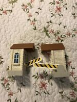 Set Of 2 Children's Car You Toll Booth Gate Pass Buildings Play set Lot