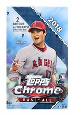 2018 Topps CHROME Baseball HOBBY Box With 2 AUTOGRAPHS - FREE PRIORITY SHIPPING