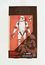 Hasbro Star Wars the Black serie el despertar de la fuerza #12 Snowtrooper