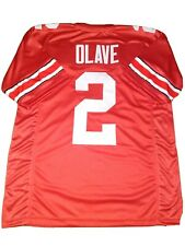 New CHRIS OLAVE 3X Ohio State College Custom Stitched Football Jersey Men's