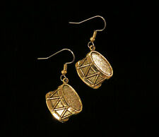 Drum Earrings Snare Drummer Marching Band Music Drumming 24 Karat Gold Plate