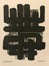 Pierre Soulages : gravure 1986 (lithographie numéro 3)