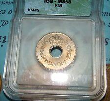 1934 Fiji Penny ICG Certified ms68.